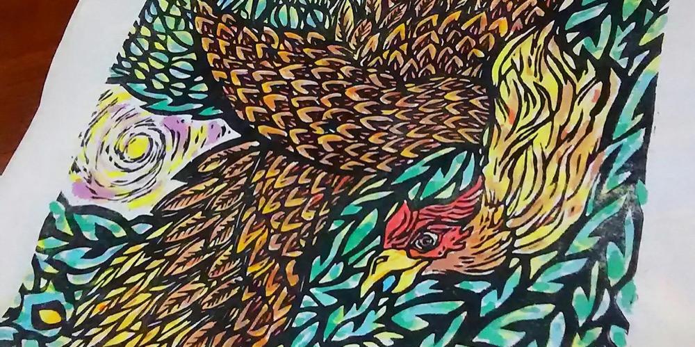 Asayuki Ooyama Okinawa Woodcut Printing Artist